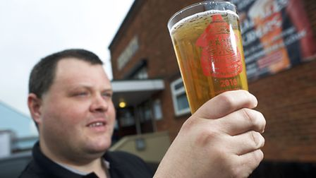 Lee Curson raises a toast to Aylsham Beer Festival. Picture: MARK BULLIMORE