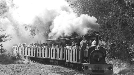 The 2ft locomotive George Sholto running on Bressingham's 2ft Railway. The picture is from the late