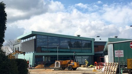 Wymondham Leisure Centre is nearing completion. The centre is due to open to the public on Monday (A