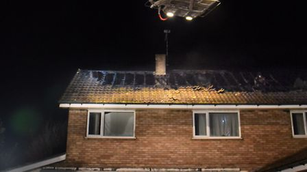 Fire fighters at the former Russell Lodge care home. Picture: DENISE BRADLEY