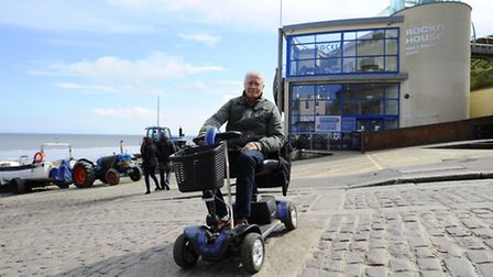Architect and former Cromer Town Councillor Jim Bond who's been instrumental in having an access wal