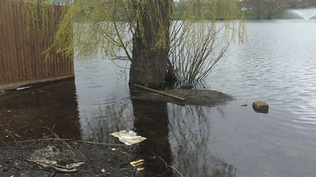 Flooding at Diss Mere