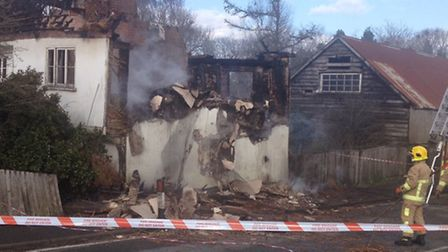 The damage after the house in Oakley partially collapsed. Photo: Sonya Duncan/Archant