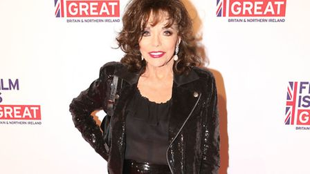 Joan Collins arrives at the 2016 The Film is GREAT Reception in West Hollywood (Photo by Omar Vega/I