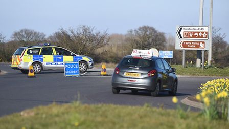 The A149 between Knight's Hill and Sandringham is currently closed due to a serious RTC. Picture: Ia