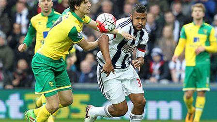 January signing Timm Klose in action for Norwich. Picture: Paul Chesterton/Focus Images.