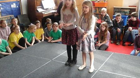 Izzy Barrell and Aimee Sadler singing 'Call me Maybe'