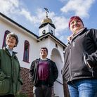St Seraphims Chapel in Walsingham gets museum status - From left, Sylvia Batchelor, Jonny Wood and L