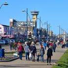A busy Yarmouth seafront on Good Friday.PHOTO: Nick Butcher