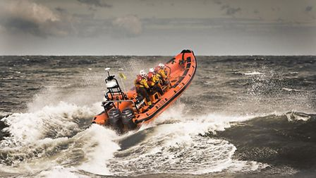 Sheringham lifeboat action shot. Picture: RNLI