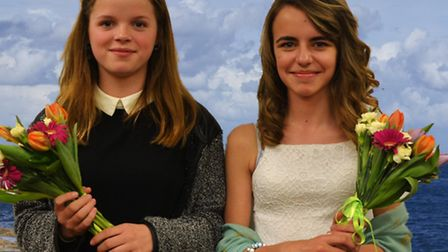 Cromer Carnival Junior Attendants for 2016 are Sian Clarke and Trinity Sayer-Folley both aged 13 and