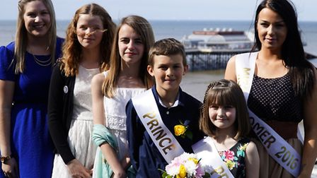 The Cromer Carnival royal party. Pictured from left, Sammy Armstrong, Sian Clarke, Trinity Sayer-Fol