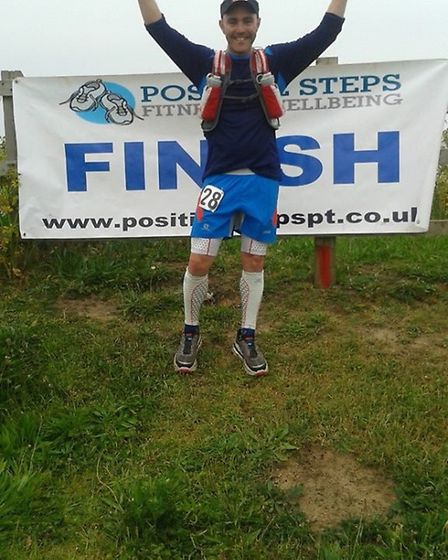 David Oliver was first to complete the inaugural Norfolk 100km race in a time of 10 hours, five minu