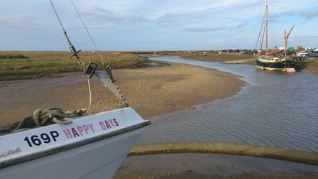 The view from the Norfolk Coast Path in Blakeney.