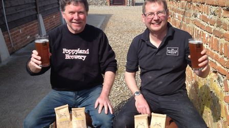 Pictured outside The Norfolk Brewhouse are Martin Warren (left) and David Holliday (right)