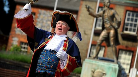 Thetford Town Crier, Mike Wabe is entering the World Championships.