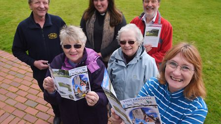 A visit Dereham leaflet has been produced for the first time. Pictured are (from left) Charlie Rober