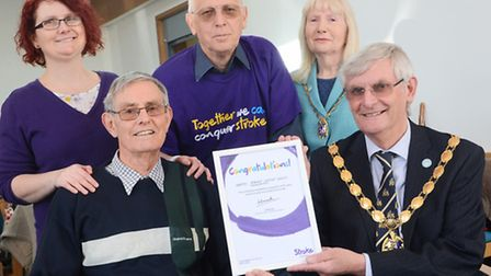 The Stroke group in Hunstanton is celebrating it's 5th anniversary. Pictured are (from left) Gemma S