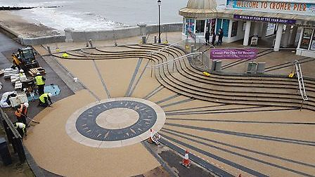 Work has been completed on an £8m scheme to repair and enhance Cromer's sea defences and foreshore.