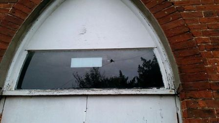 Windows were smashed at the scout hall on London Road