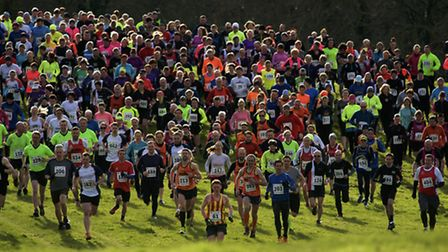 Hundreds of runners took part in the fundraiser in February. Picture: MARK BULLIMORE