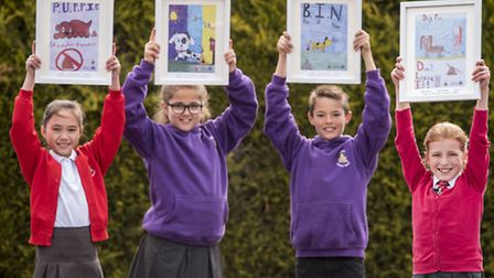Pupils from Gayton Primary School have designed posters to help reducing dog fouling in the village
