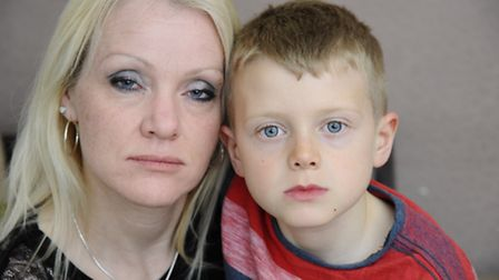 Alfie Holland-Pengelly, 8, who was bitten by a dog whilst playing on Fearns Field in Cromer on Sunda