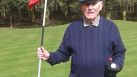 Arthur Ball, who scored a hole in one at Dunston Hall aged 94.