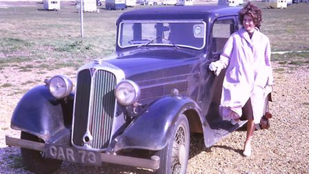 John Dulieu's 1934 Rover 10 and Jean Rose who became his wife.