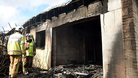 Norfolk Fire Service on the scene of a chalet block fire at the former Pontins holiday park site in