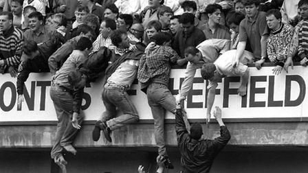 Overcrowding at the 1989 FA Cup semi-final at Hillsborough. The tragedy claimed 96 lives. Photo: Dav