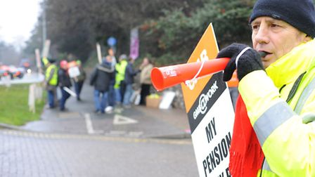 Previous industrial action at Unilever in Norwich in 2012. Photo: Bill Smith