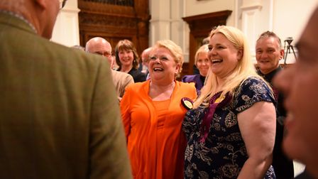 Great Yarmouth Borough Council Elections 2016.Susan Hacon and Kay Grey (UKIP).Picture: James Bass