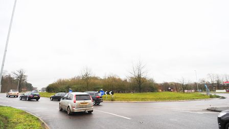Stock image of the Fiveways Roundabout in Mildenhall. PIC: Gregg Brown.