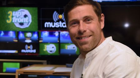 Former Norwich City player Grant Holt before his appearance on Mustard Tv's 3 Up Front. Picture: DEN