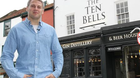 Patrick Fisher outside The Ten Bells.