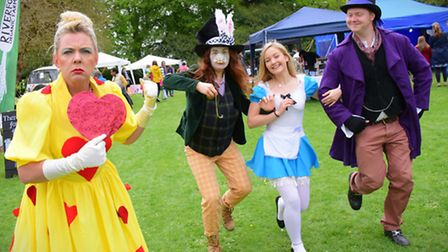 Alice in Wonderland themed fun at the Hethersett Old Hall School fete.PHOTO BY SIMON FINLAY