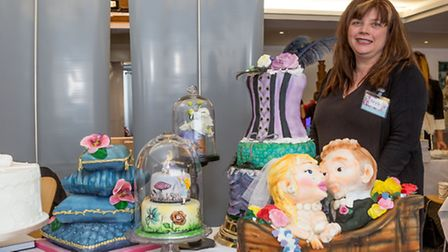 Tracy Harrison from Peacock Cakes at the EDP Bbride wedding show PICTURE: Lee Blanchflower