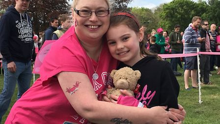 Rachael Donovan and daughter Lyla at the Race for Life