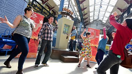 Norfolk and Norwich Festival launch event with the Public Jukebox at Norwich Station. Picture: ANTON