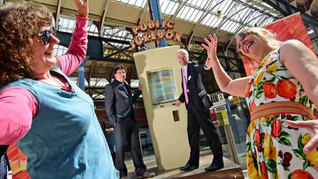 Norfolk and Norwich Festival launch event with the Public Jukebox at Norwich Station. William Galink