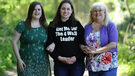 Mum of three Naomi Farrow (centre) who has started a charity for mums who sufer from post-natal depr