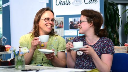 Pictured are the organisers of the Norwich Death Cafe, left, Su Squire and Kayla Bainger. Picture: A