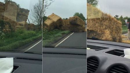 Going, going, gone... The straw bales on the A146 at Yelverton