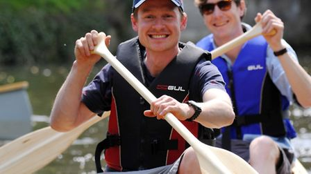 Nick Hanington (pictured ) has launched a new canoe hire business called Pub and Paddle. Taking to t