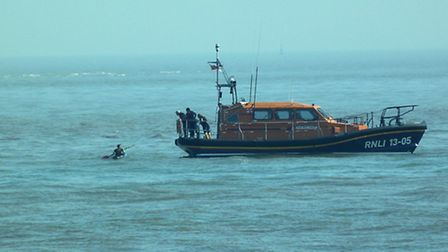 The canoiest was rescued by Lowestoft RNLI.