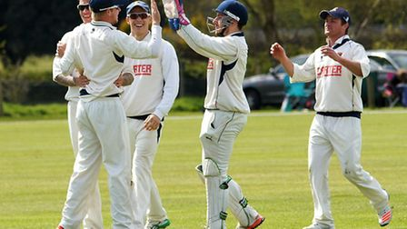 Jordan Taylor, pictured celebrating a catch during an earlier win against Lincolnshire, was Norfolks