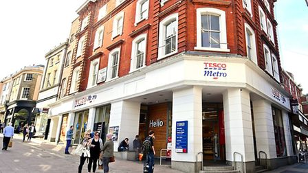 Tesco Metro on Guildhall Hill, Norwich.Picture: ANTONY KELLY
