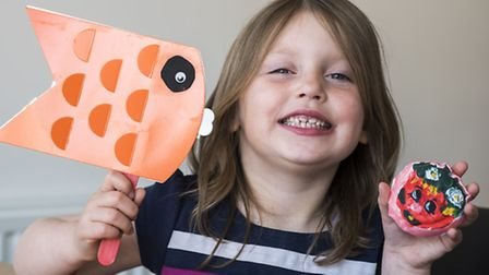 Five year old Amelia Ockelford from Dereham, has her own Youtube channel demonstrating crafts. Pictu