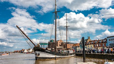 The Albatros leaves Wells to be surveyed at Great Yarmouth. Picture: Reg Holl
